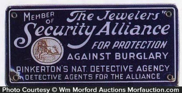 Pinkerton Jewelers Alliance Sign