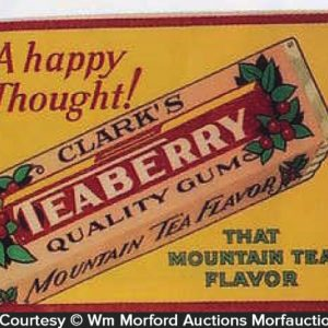 Clark's Teaberry Gum Sign