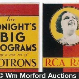 Rca Radiotrons Program Signs