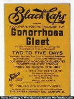 Black Caps Gonorrhoea Gleet Sign