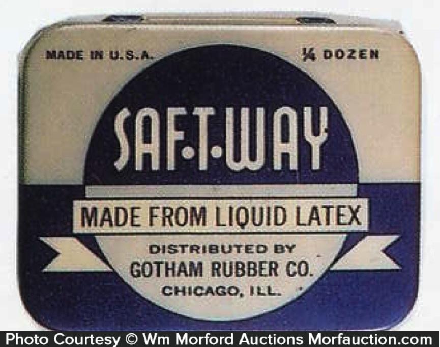Saf-T-Way Condom Tin