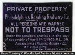 Railroad No Trespassing Sign