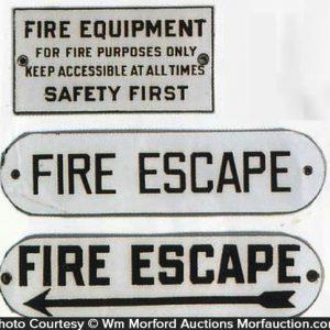 Porcelain Fire Signs