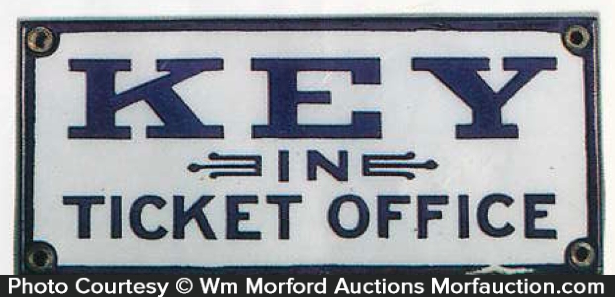 Key In Ticket Office Sign