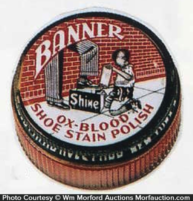 Banner Ox-Blood Shoe Polish Tin