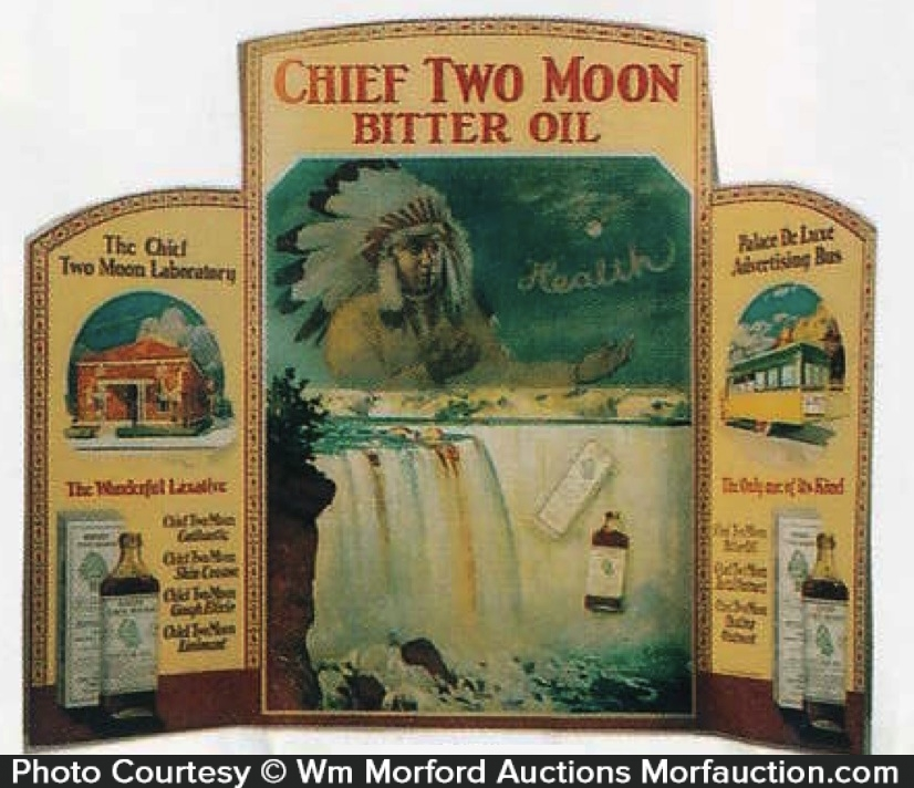 Chief Two Moon Bitter Oil Display