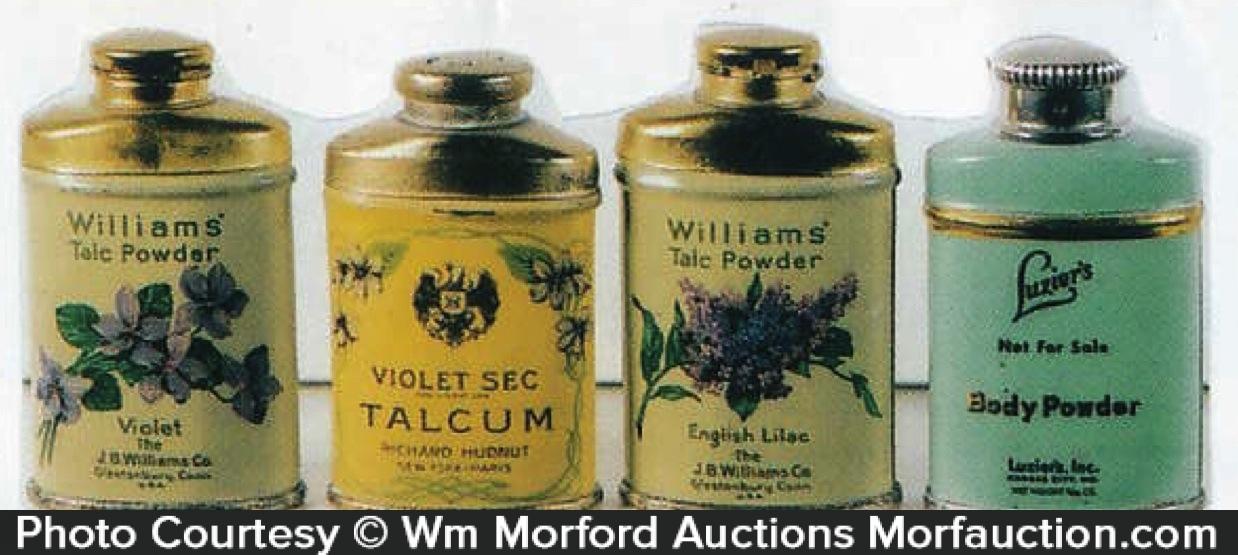 Vintage Talcum Sample Tins