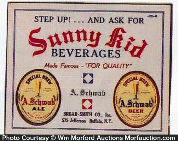 Sunny Kid Beverages Sign