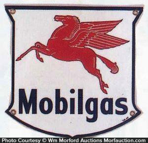 Mobilgas Porcelain Sign