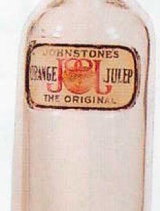 Orange Julep Syrup Bottle