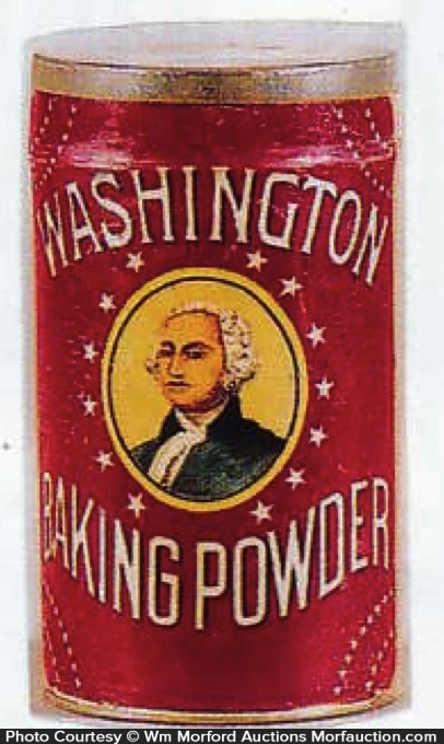 Washington Baking Powder Tin
