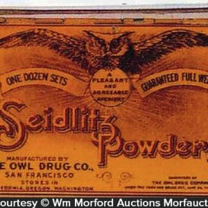 Owl Drug Seidlitz Powder Tin