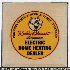 Reddy Kilowatt Celluloid Sign