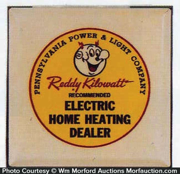 Reddy Kilowatt Celluloid Sign