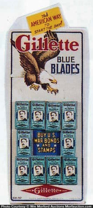 Gillette Blue Blades Display