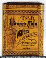 Tar Licorice Tolu Wafers Tin