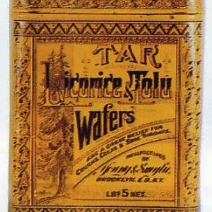 Tar Licorice Tolu Wafers Tin