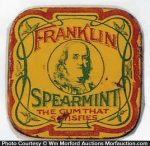 Franklin Sample Gum Tin