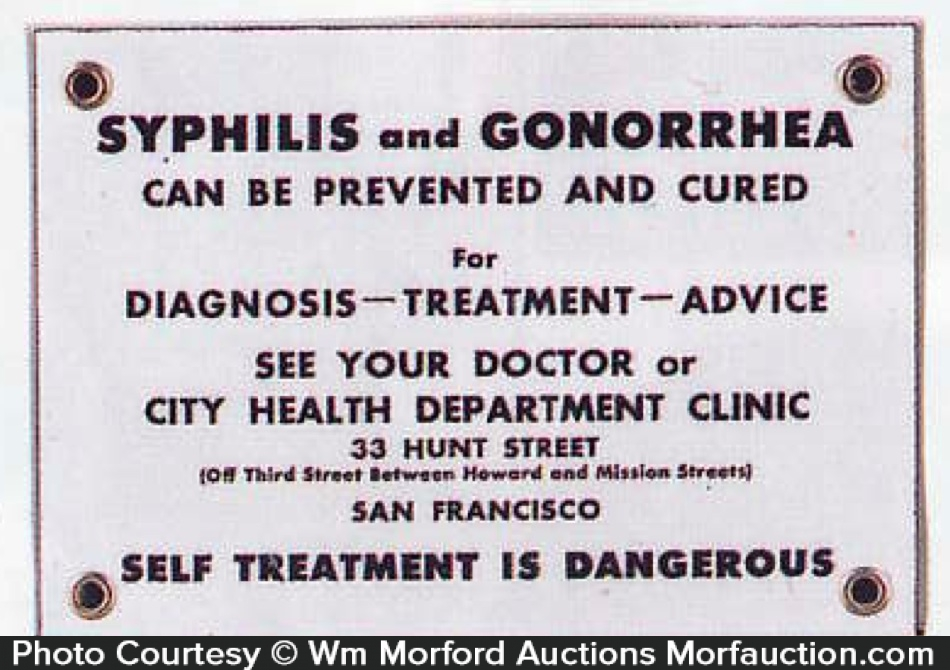 Syphilis and Gonorrhea Sign