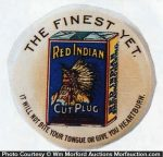 Red Indian Tobacco Button