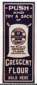 Crescent Flour Door Push
