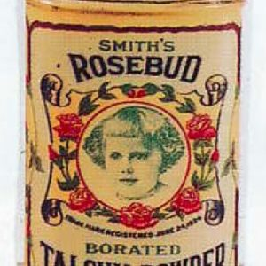 Rosebud Talcum Powder Tin