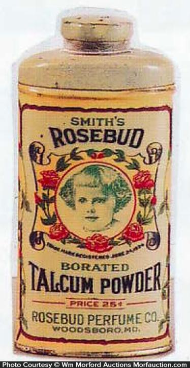 Rosebud Talcum Powder Tin