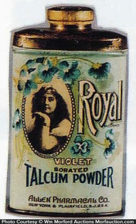 Royal Talcum Powder Tin