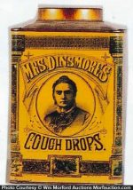 Mrs. Dinsmore's Cough Drops Tin