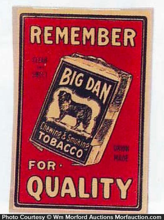 Big Dan Tobacco Sign