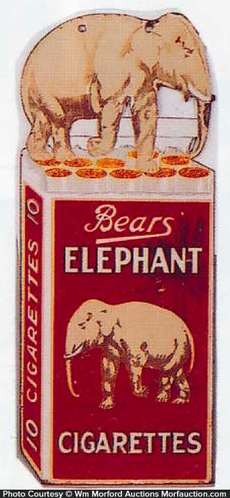 Elephant Cigarettes Sign
