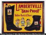 Lambertville Snap-Proof Boots Sign