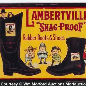 Lambertville Snap-Proof Boots Sign