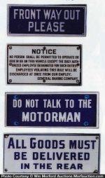 Vintage Porcelain Signs