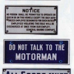 Vintage Porcelain Signs