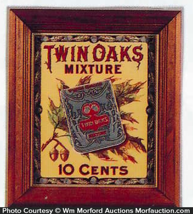 Twin Oaks Tobacco Sign