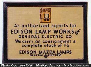 Edison Lamp Works Sign
