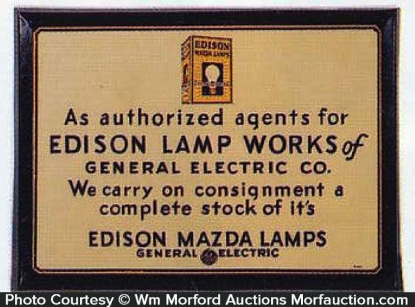 Edison Lamp Works Sign