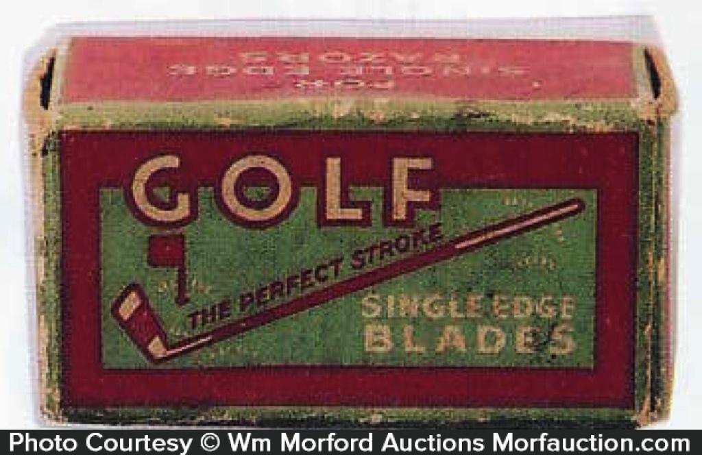 Golf Razor Blades Box