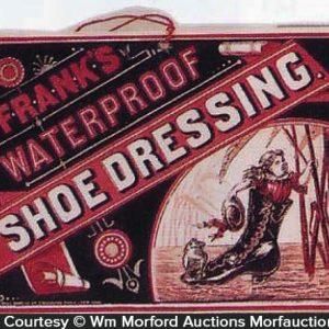 Frank's Shoe Dressing Sign