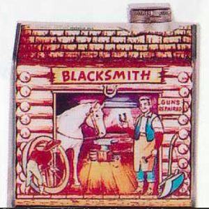 Log Cabin Syrup Blacksmith Tin