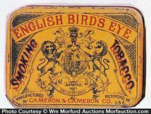 English Bird's Eye Tobacco Tin