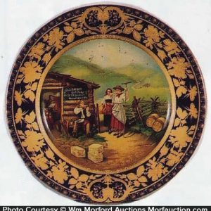 Old Barbee Whiskey Art Plate