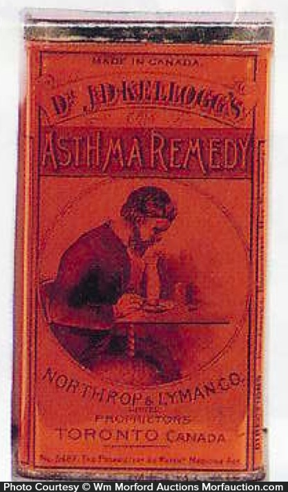 Dr. Kellogg's Asthma Remedy Tin