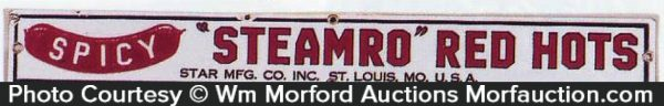 Steamro Red Hots Sign