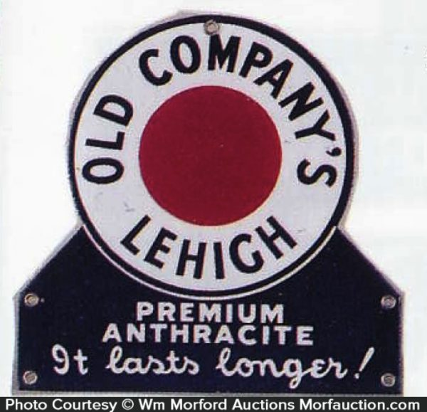 Old Company Lehigh Coal Sign