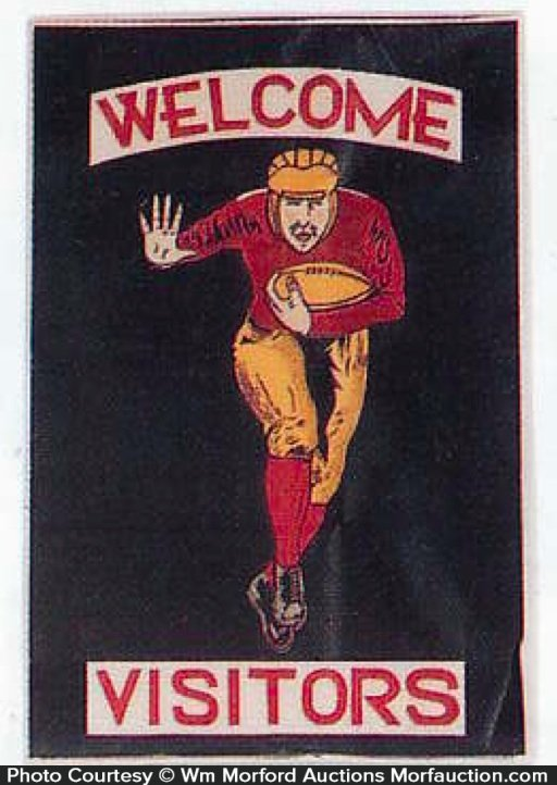 Welcome Visitors Football Banner