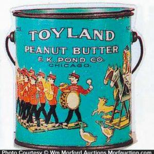 Toyland Peanut Butter Pail