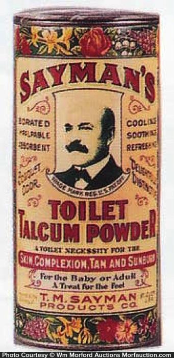 Sayman's Toilet Talcum Powder Tin