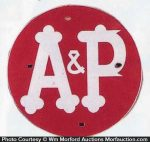 A & P Grocery Sign